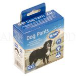 Hárací kalhotky pro psy XXL 60-70cm černé